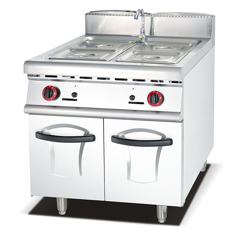 Commercial Kitchen equipment Gas Bain Maries with Cabinet
