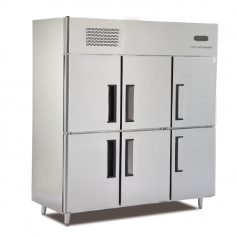 6-Door Commercial Kitchen refrigerator freezer