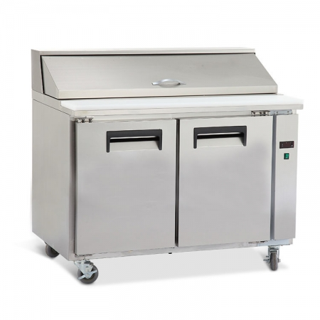 KT1 Stainless Steel Solid Door Salad Sandwich Prep Table Chiller