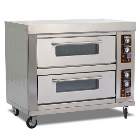 E24B Commercial Bakery Equipment Double Deck Electric Oven for Sale