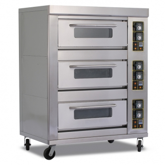 3 deck commercial gas pizza oven