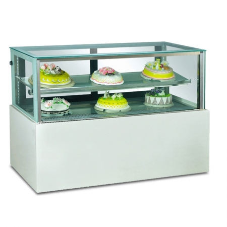 Marble Base Vertical Cake Showcase Display Cooler