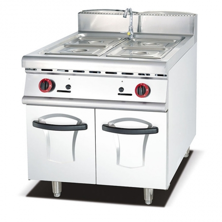 Stainless Steel Free Standing Commercial Kitchen equipment Gas Bain Maries with Cabinet