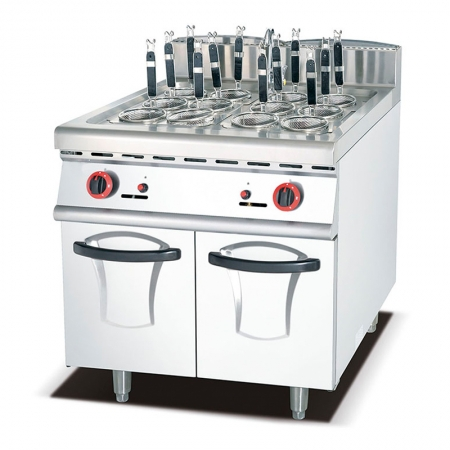 kitchen Hotel Restaurant Equipment Commercial Gas Pasta Noodle Cooker With Cabinet