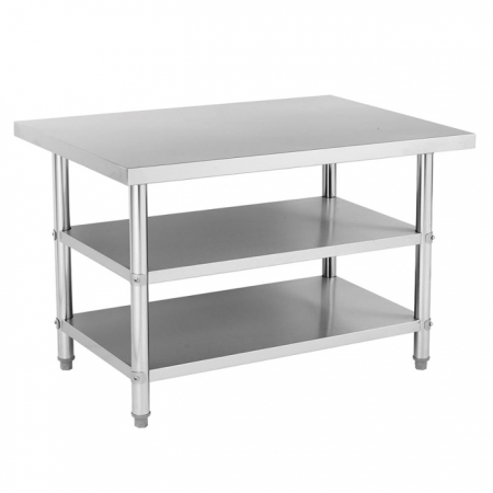 Kitchen Equipment Three Tiers Stainless Steel Work Table