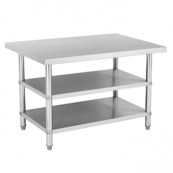 Three Tiers Stainless Steel Work Table